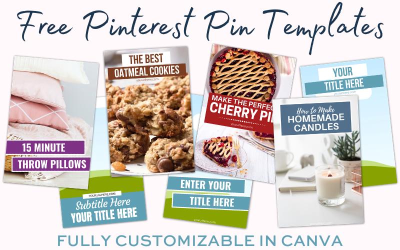 Free Pinterest Pin Templates