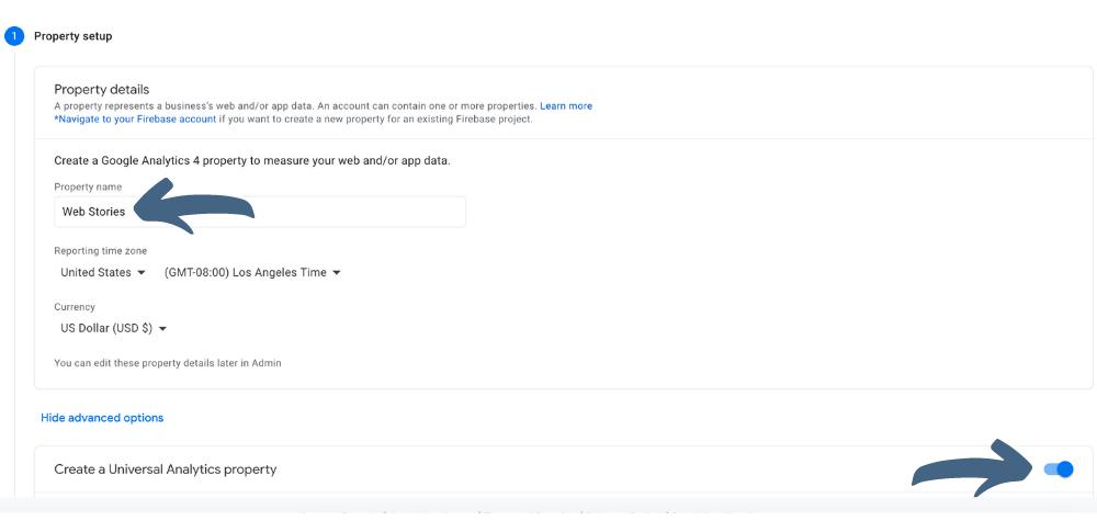Google Analytics New Property